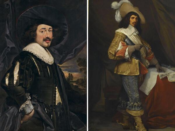Duas imagens de pinturas da época da Renascença